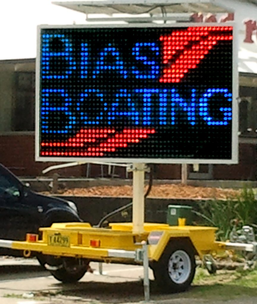HIRE A SIGN ADVERITISING TRAILERS